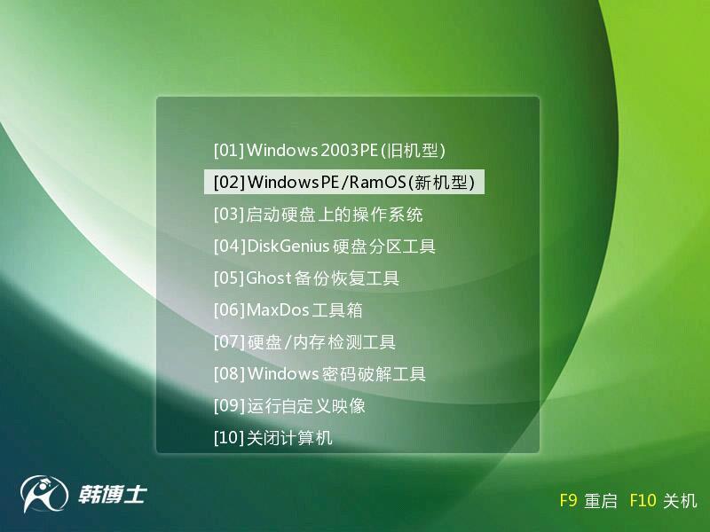 U盘重装系统 韩博士U盘重装系统win7教程